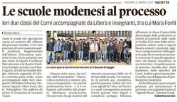 Le scuole modenesi al processo