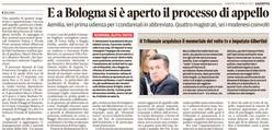 A Bologna si è aperto l'appello