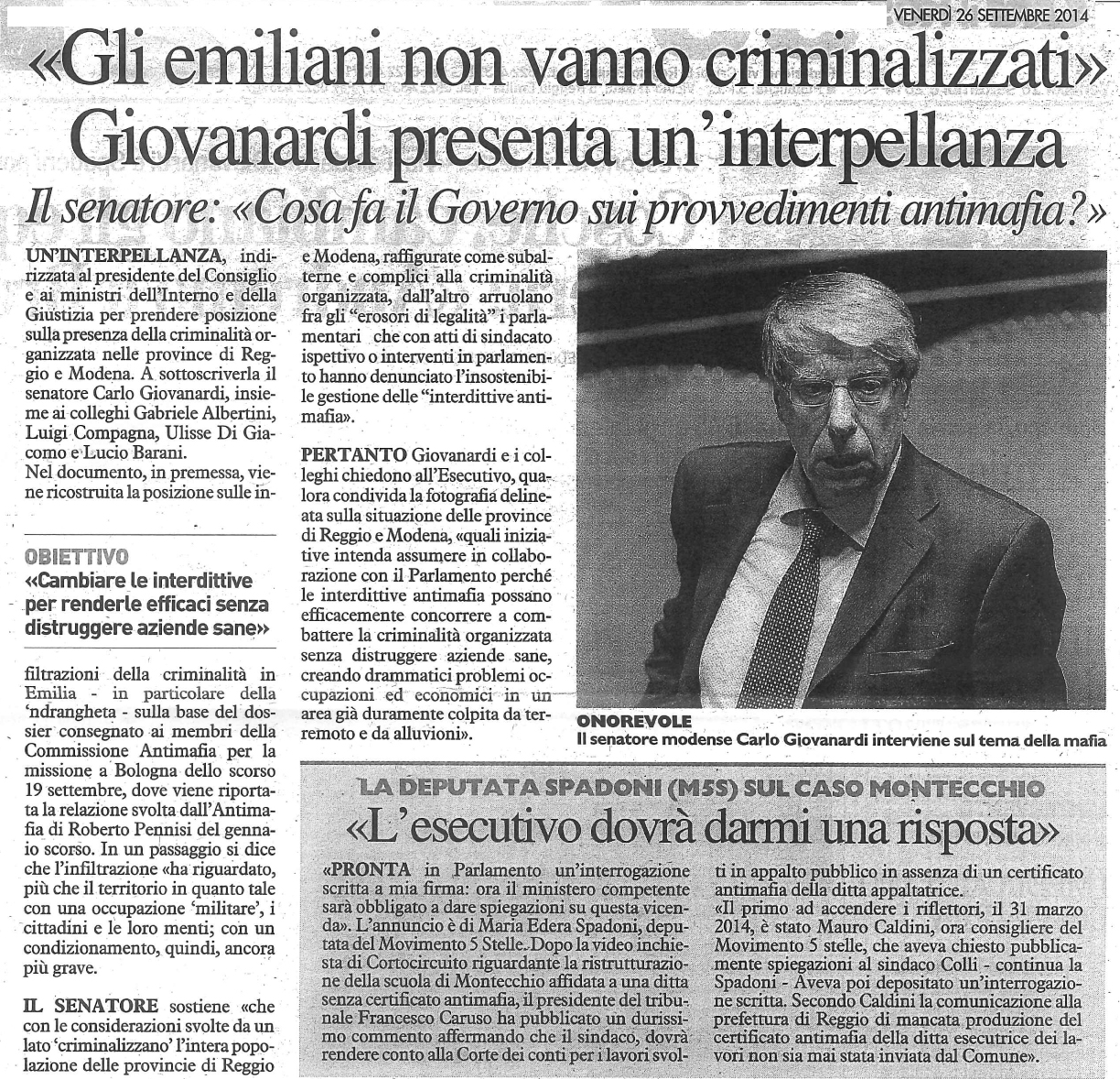 Giovanardi e l'interpellanza