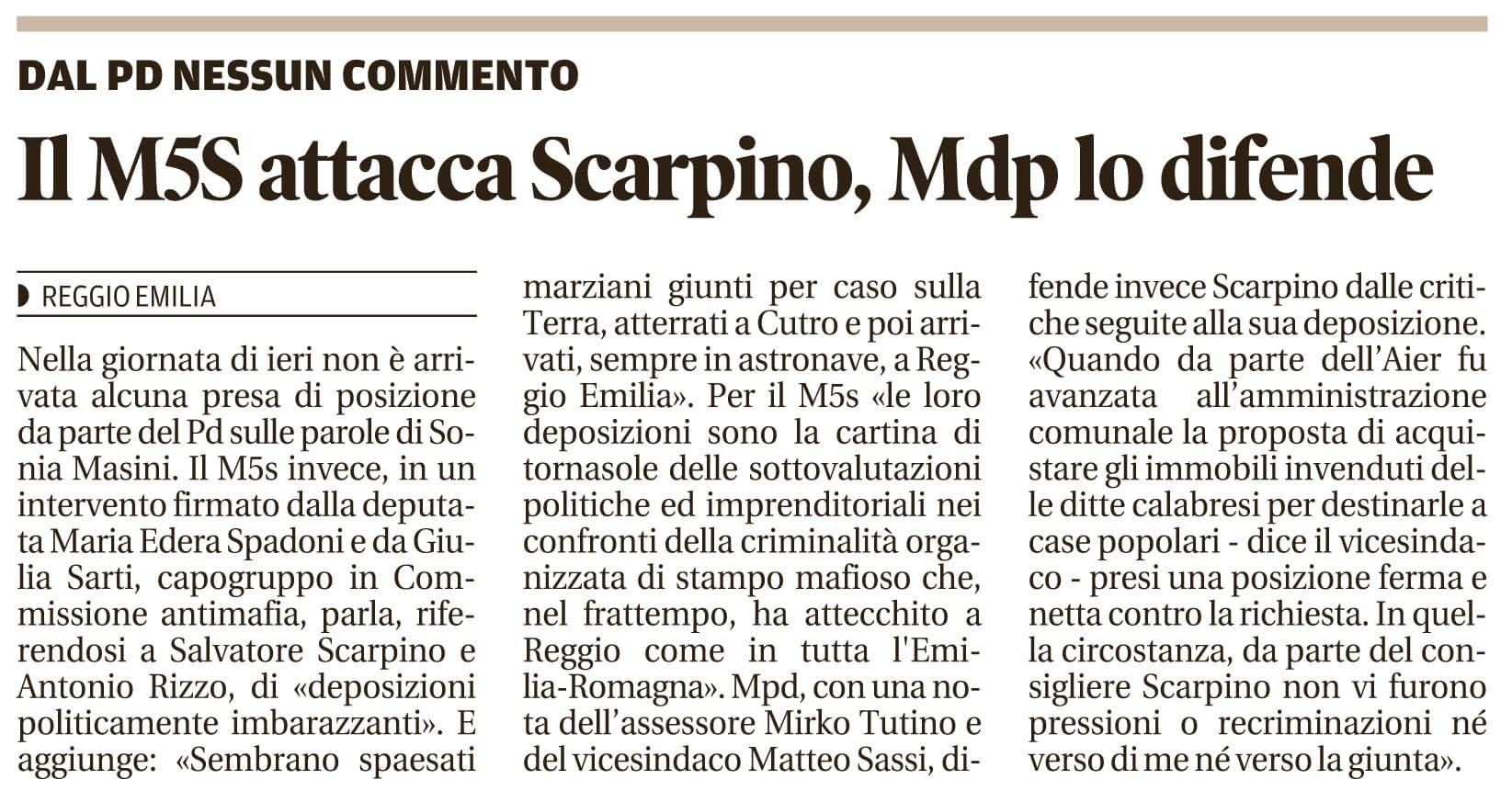 Il M5S attacca Scarpino