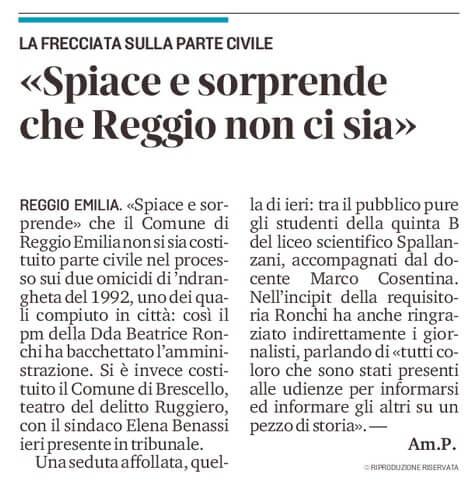 Sorprende che Reggio non ci sia