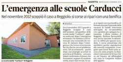 Emergenza alle scuole Carducci