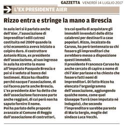 Rizzo stringe la mano a Brescia