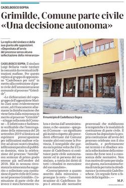 Cadelbosco Sopra parte civile