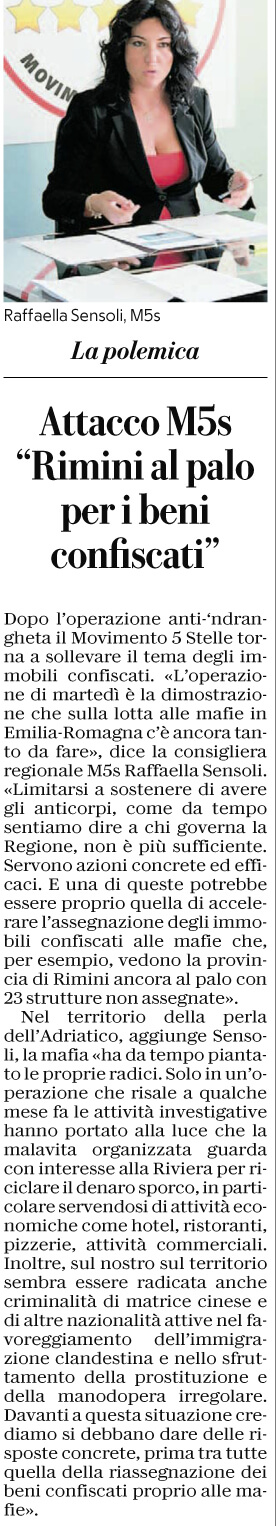 Rimini al palo per i beni confiscati