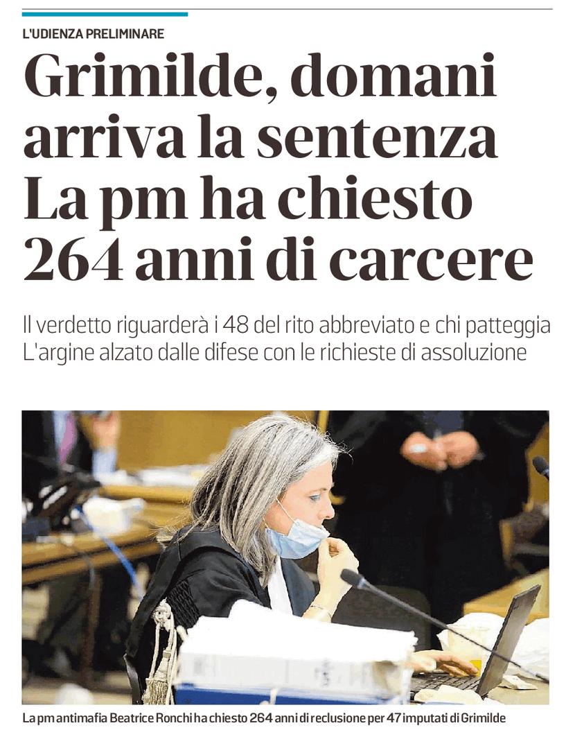 La PM ha chiesto 264 anni di carcere