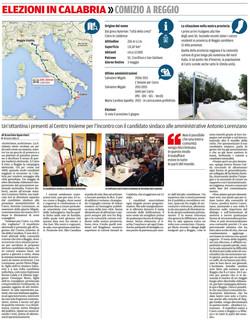 Elezioni a Cutro, comizio a Reggio