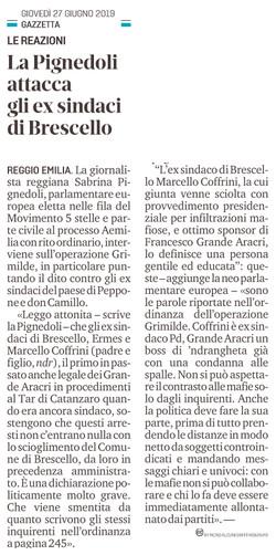 Attacco agli ex sindaci di Brescello