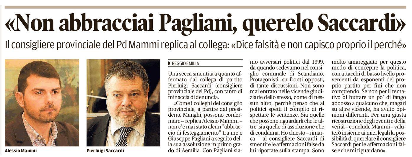Mammi: querelo Saccardi