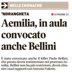 Convocato anche Bellini