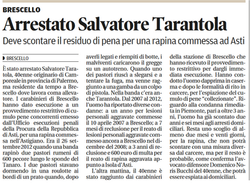 Arrestato Salvatore Tarantola