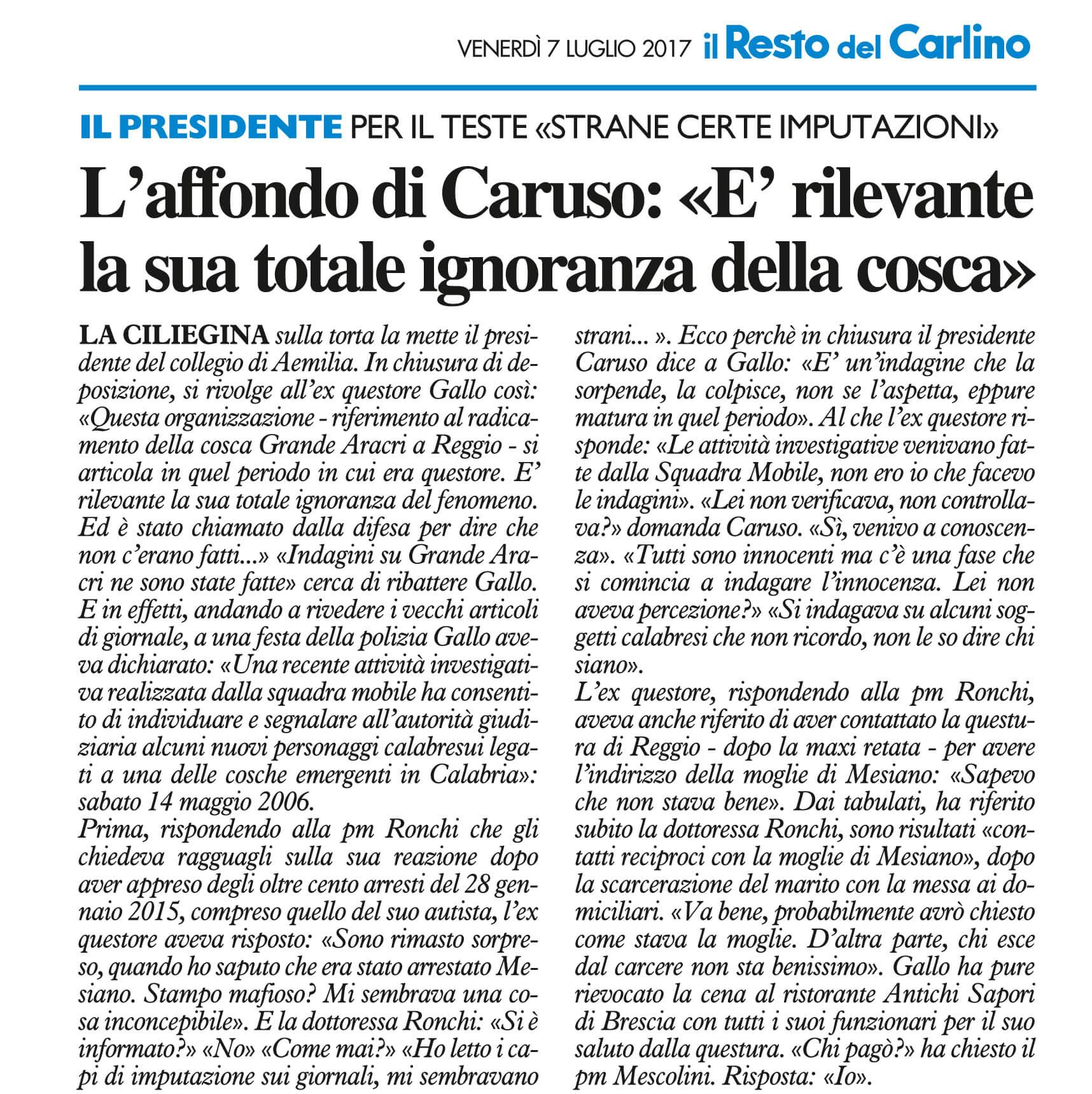 L'affondo di Caruso