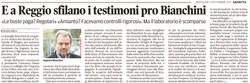 Sfilano i testimoni pro Bianchini