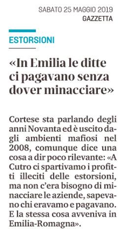 In Emilia le ditte ci pagavano
