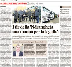 I tir della 'ndrangheta