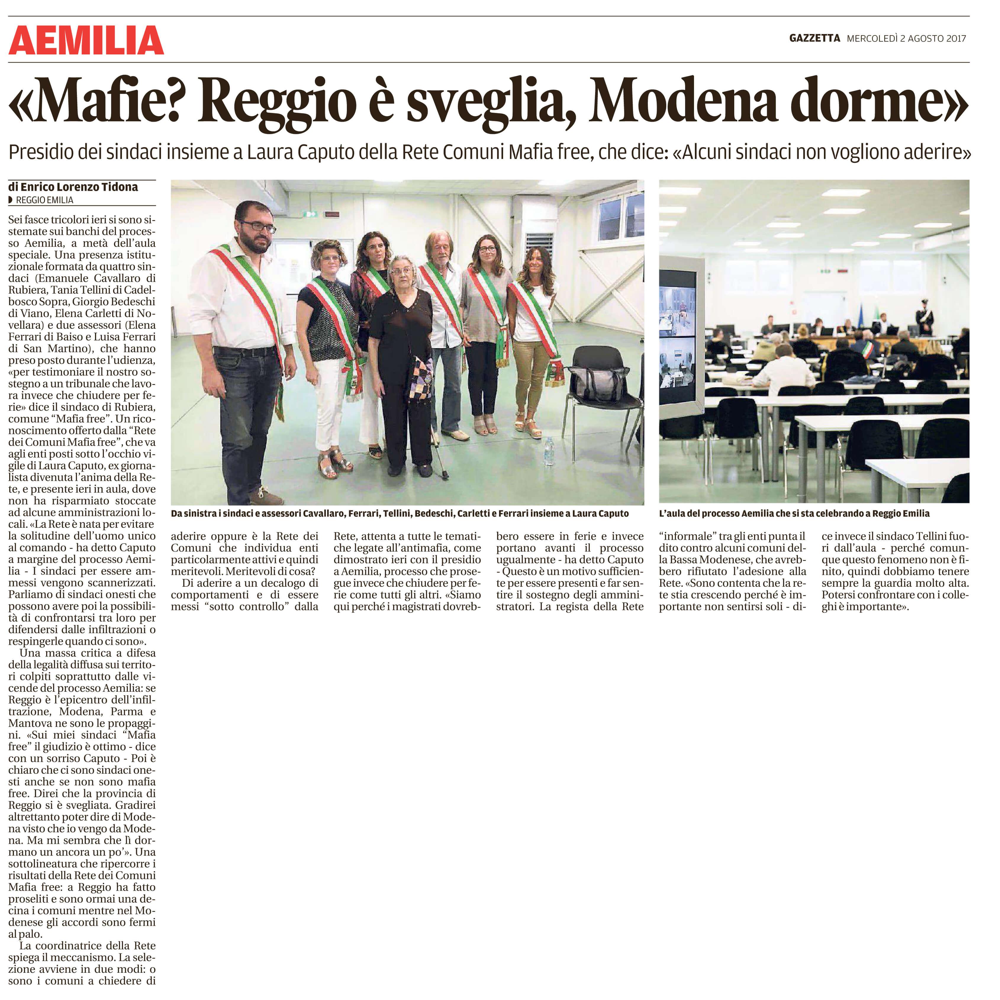 Reggio si è svegliata, Modena dorme