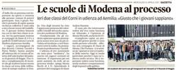 Le scuole di Modena al processo