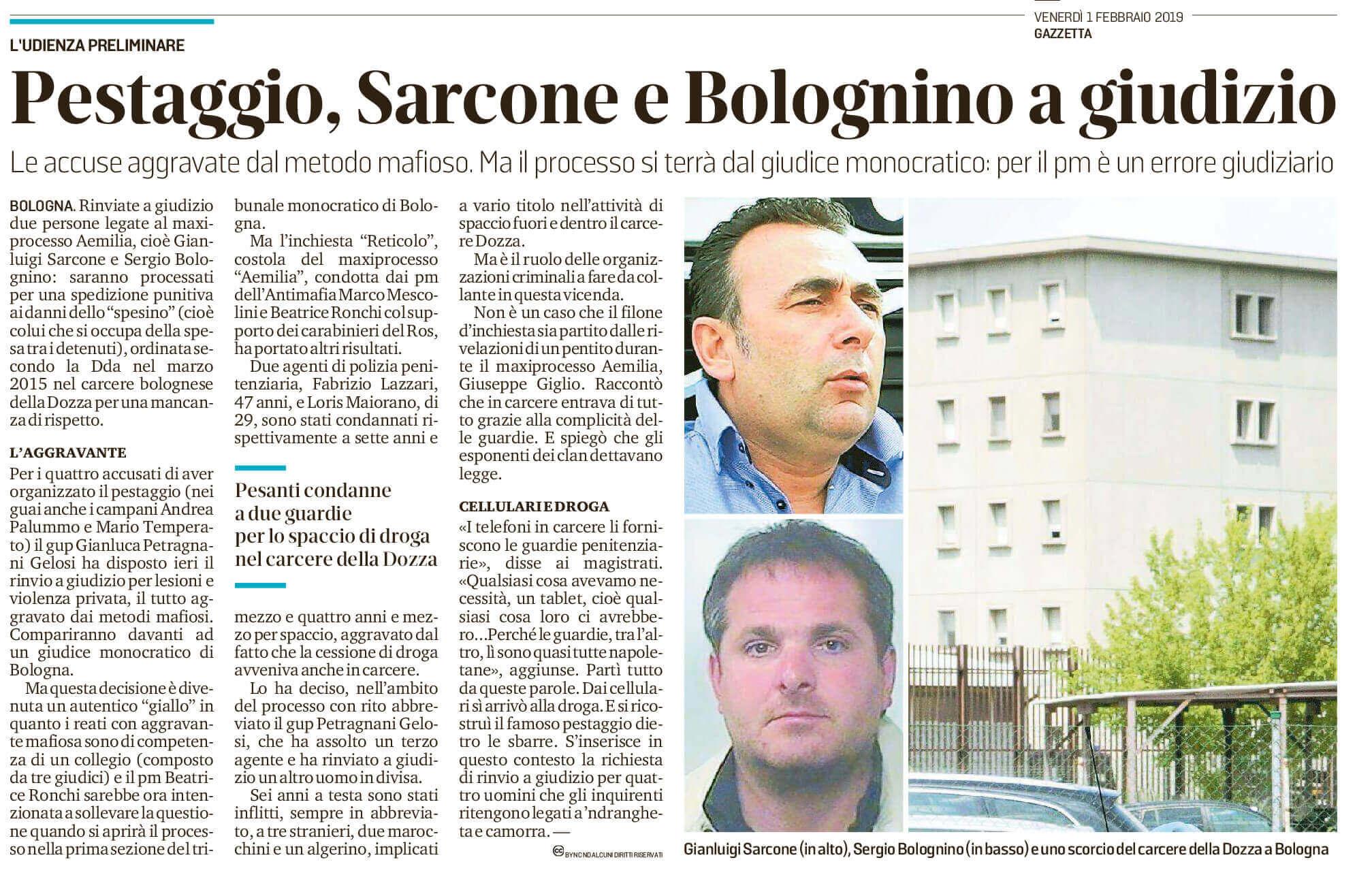 Sarcone e Bolognino a giudizio