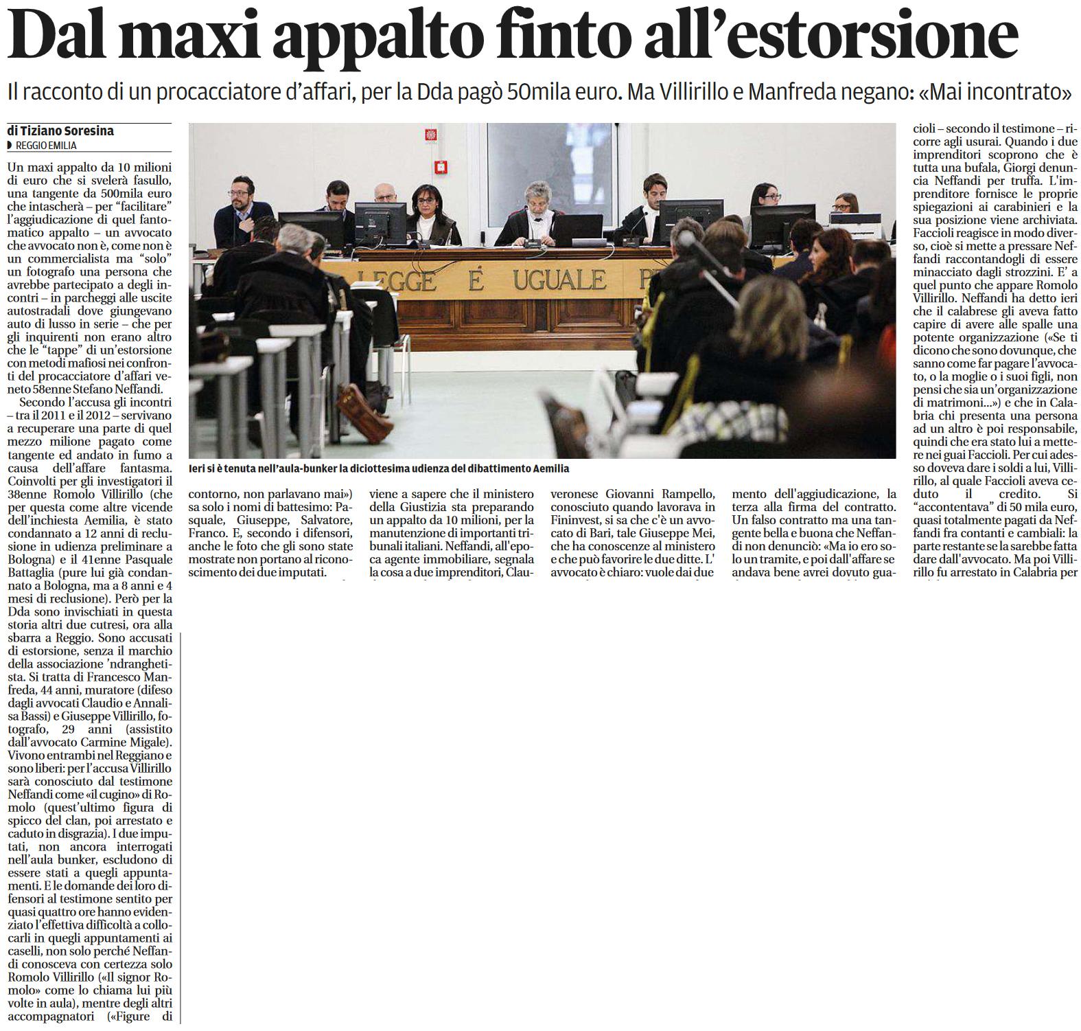 Maxi-appalto finto / estorsione