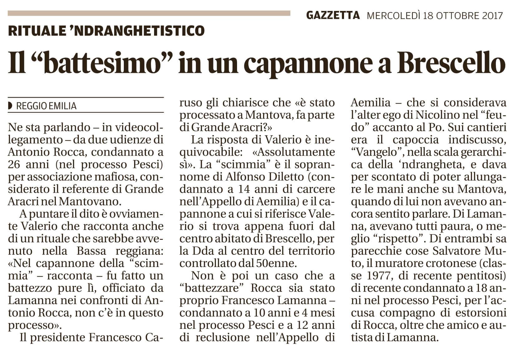 """Il """"battesimo"""" a Brescello"""