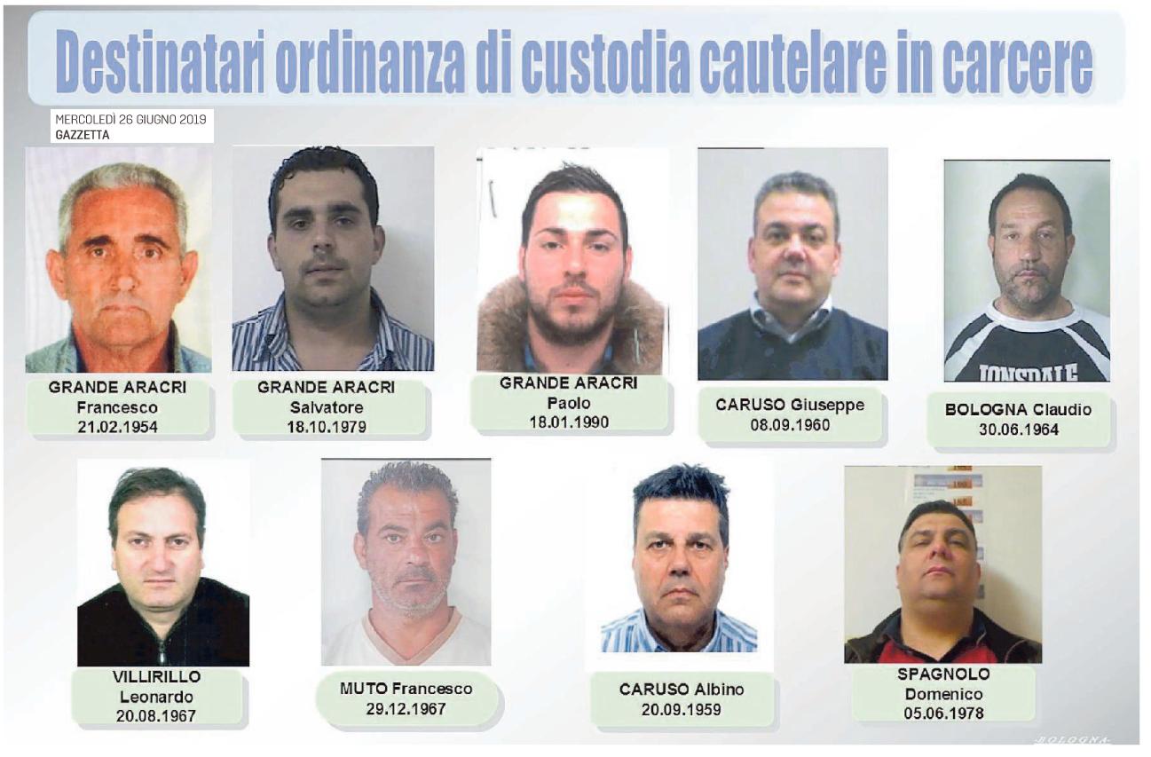 Alcune foto degli arrestati