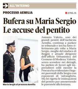 Bufera su Maria Sergio