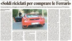 Soldi riciclati per una Ferrari