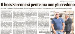 """Il boss Sarcone si """"pente"""""""