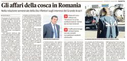 Gli affari della cosca in Romania