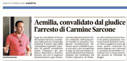 Convalidato l'arresto di Carmine Sarcone