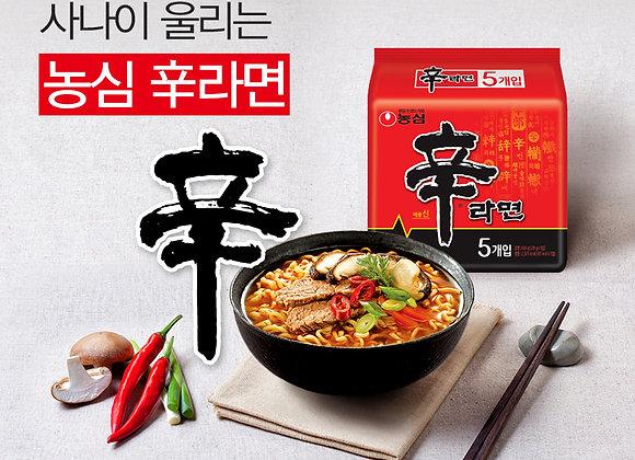 Shin Ramen Korean Noodle Hot Spicy Tasty Beef Soup Korea Ramyun - 5pcs