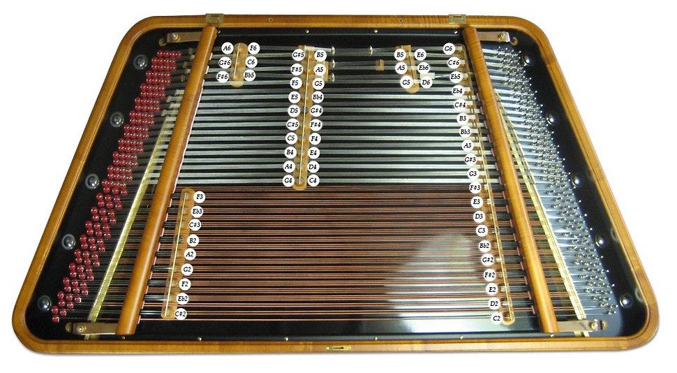 cimbalom pitch chart