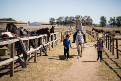 kids-riding-a-horse-in-the-ranch-7PGQ8DV