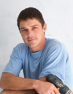 Handyman with Blue Shirt