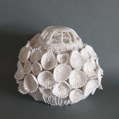 玉華蓋付飾壺