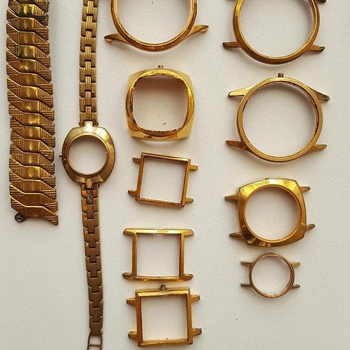 Корпуса часов и браслеты со знаком AU без механизма