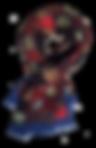 Echarpe 46x180 Mosaïque Iris V. BLEU