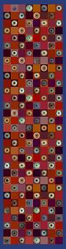 Scarf MOSAÏQUE IRIS 46x180 Twill 70% Wool 30% Silk