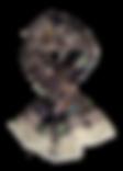 Echarpe 46x180 Mosaïque Iris  70% Laine 30% Soie