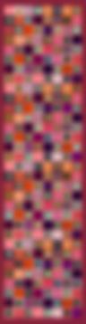 Echarpe MOSAÏQUE IRIS 46x180 Twill 70% Laine 30% Soie