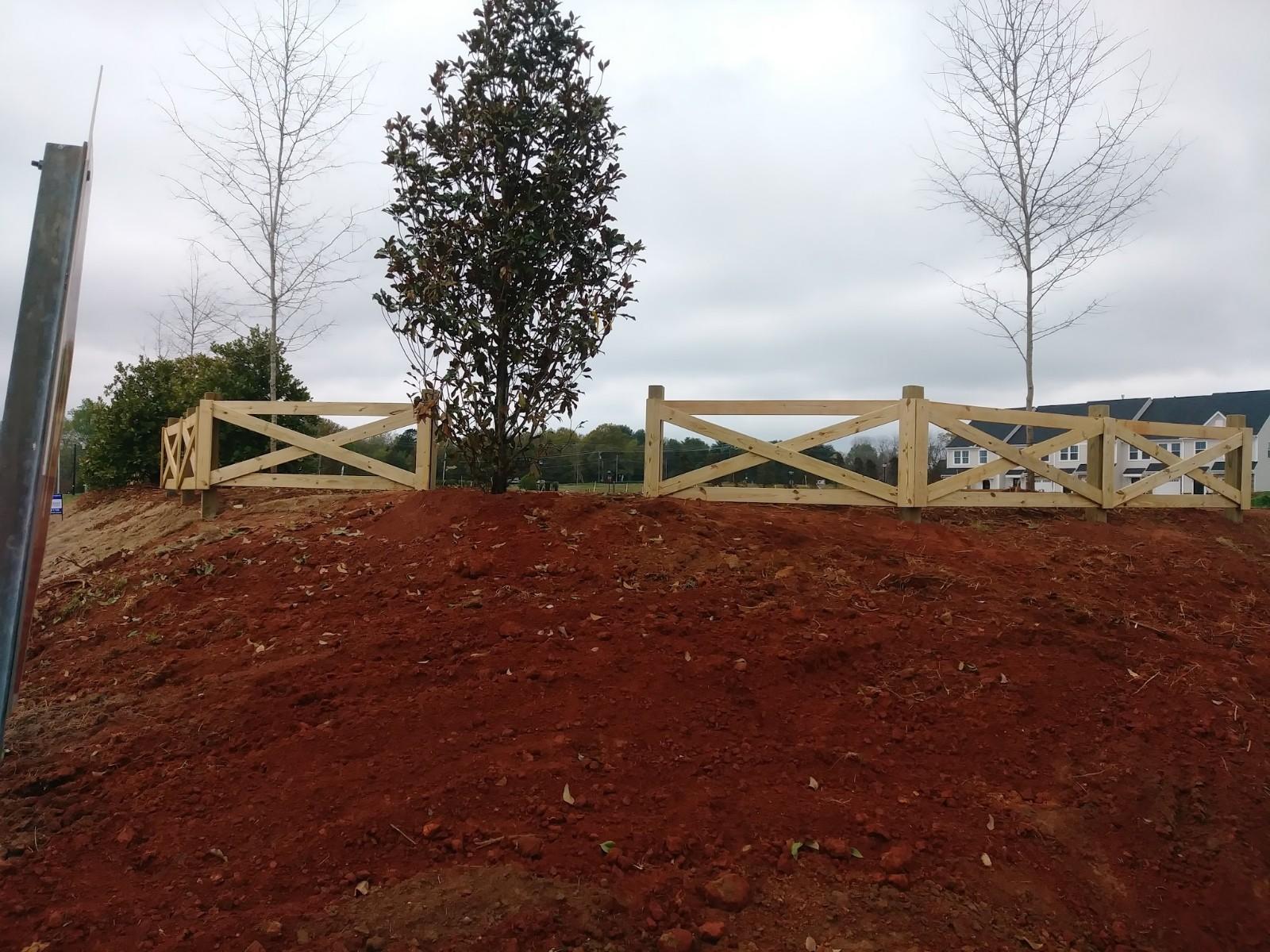 Cross Buck fence