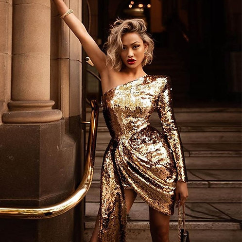 Gold Sparkler Dress