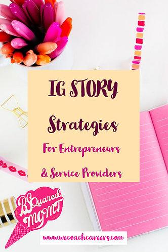 IG Story Strategies