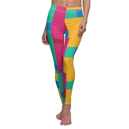 Colorful Abstract Art Print Leggings