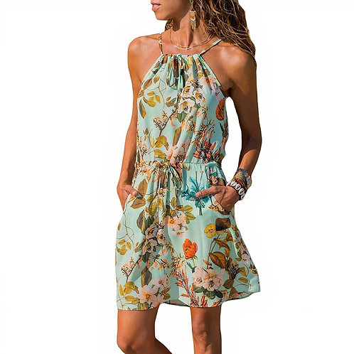 Lupe Dress -Flowers