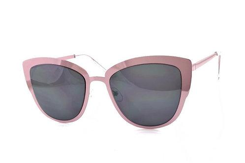 Pink Metal Mirror Sunglasses