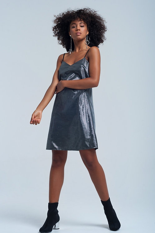 Shiny Silver Dress