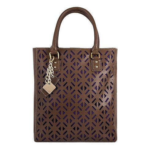 Luminous Leather Bag - Chocolate