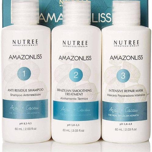 Amazonliss Keratin Smoothing Treatment Hair Straightening Set 2.03 fl.oz / 60 Ml