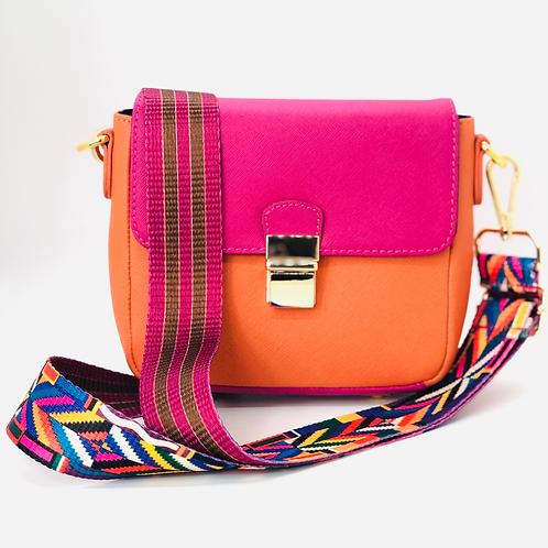 Tiny Leather Handbag -Watermelon/Orange (Option 1)